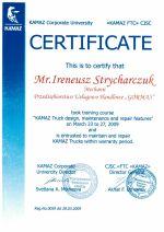 Miniatura certyfikatu OAO Kamaz - Ireneusz S