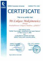 Miniatura certyfikatu OAO Kamaz - Łukasz M